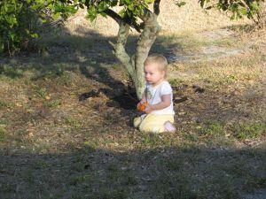 Sofia with an orange Florida '09