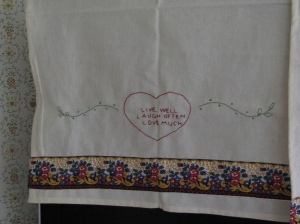 part of the tea towel I made for Bec, April 2009