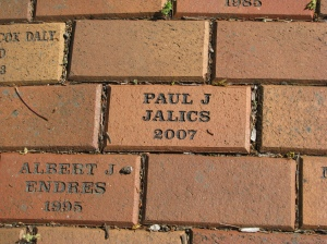 Memorial brick for Paul