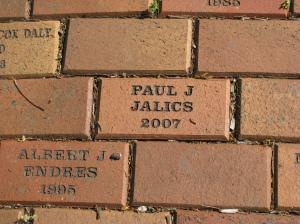 Memorial brick for Paul