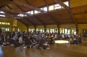 Meditation Hall from a smaller retreat