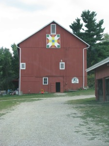 The Hundred Year Old Barn with Quilt Square at Crown Point