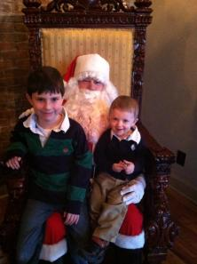 Stephen and Nathan with Santa at Spice 2012