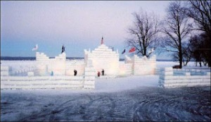 Chautauqua winter ice castle in mayville