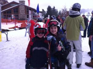 Nathan and friend in Holiday valley jan 2013