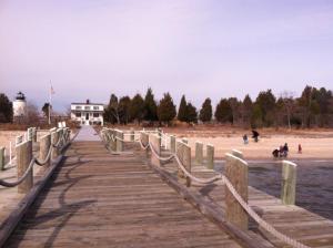 xmas 2012 Alice and Em et al on Piney Point Beach