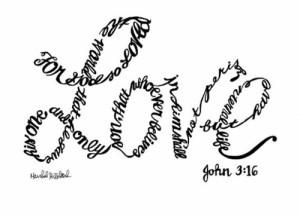 Art for God so loved the world via gatherlove