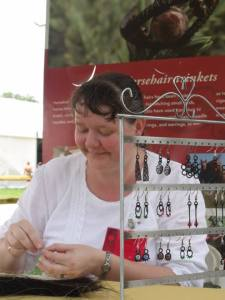 Hun folk festival 2013 horsehair earrings