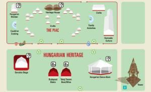 Hun Folk Festival 2013 the map