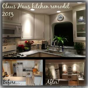 Alice Dec 2013 kitchen before and after