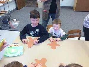 Nathan dec 2013 helping stephen at preschool dec 2