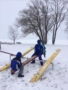 Nathan january 2014 teeter totter with Mike