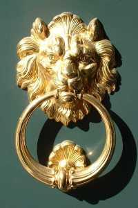 lion venetian door knocker