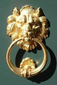 lion venetian door knocker