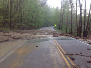 Bath road washed out may 2014