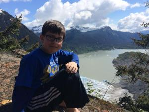 Nathan May 2014 at Mendenhall Glacier