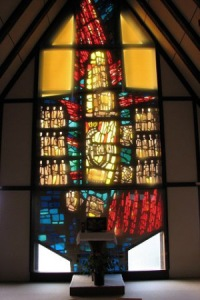 Haus Gries window in the chapel