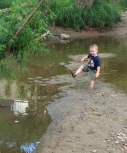 Stephen June 2014 at CVNP more fun in the river