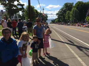 Chautauqua July 2014 Em and all waiting for the parade