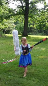 Clara july 2014 pinata at 5th bday pty