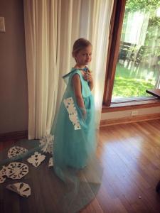 Clara july 2014 snowflakes on the Elsa dress