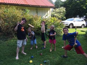 Nathan August 2014 croquet at the point