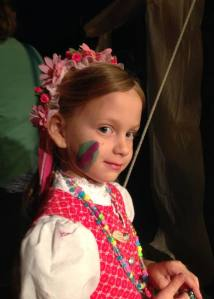 Em september 2014 Clara smiles face painting