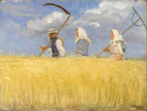 Art Anna Ancher harvesters