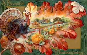 Art Thanksgiving vintage acorn in it