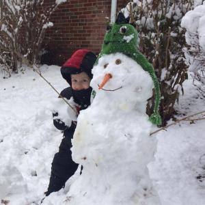 Stephen November 2014 Alice and he build a snowman nov 17