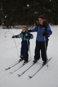 Alice jan 2015 algonquin em and fia skiing