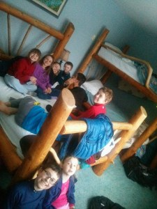 Alice jan 2015 Algonquin Lacis pic of kids taking a break at the mad musher