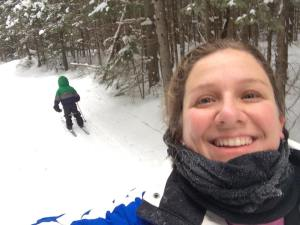 Alice jan 2015 algonquin with steve and al skiing