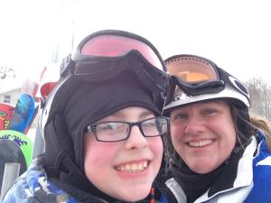 Alice jan 2015 snow day skiing with Nathan