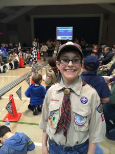 nathan jan 2015 pinewood derby the whole group