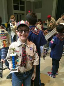 Nathan jan 2015 pinewood derby trophy