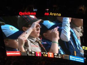 Nathan jan 2-15 he is saluting at the Cavs game