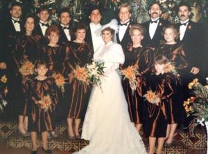 Casey wed her mom and Art's wedding in 1985 with em and alice
