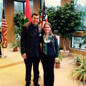 Em march 2015 at fulbright reception with Jozsi