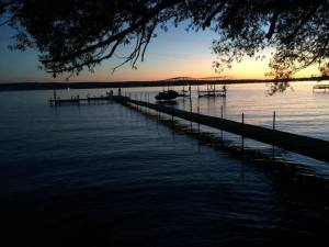 Chautauqua May 2015 our dock evening 23rd...........Alice and Mike's 16th wedding anniversary