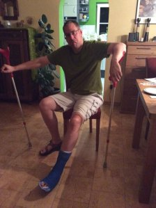 Ingmar june 2015 broken foot again........