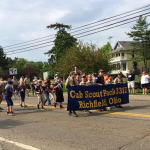 Nathan may 2015 memorial day parade his cub scout pack