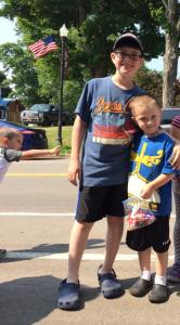 Alice july 2015 her boys at the parade