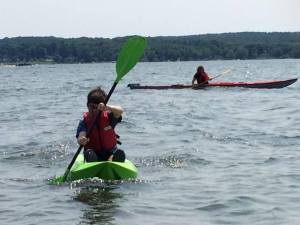 Nathan july 2015 kayaking with Alice