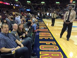 Alice nov 2015 at the cavs game court side seats how great is this!