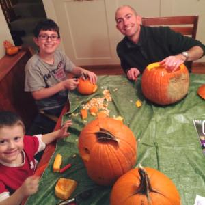 Nathan oct 25 2015 carving pumpkins