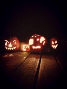 Nathan oct 25 2015 pumpkins stevies is the one with square eyes