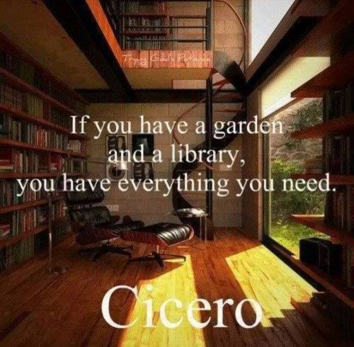 Art Garden and library quote from cicero