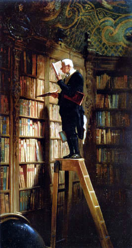 Library Carl Spitzweg bookworm 1850