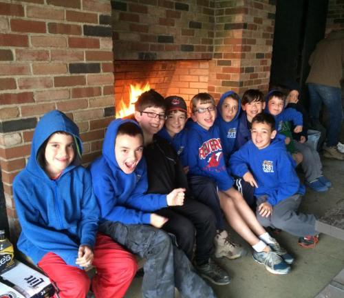 Nathan April 2015 cub scout camp out when Stephen threw up all night
